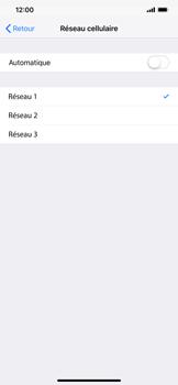 Apple iPhone XR - Réseau - Sélection manuelle du réseau - Étape 8