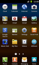 Samsung Galaxy S Advance - Applications - Setting up the application store - Step 3