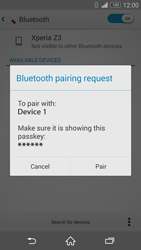 Sony Xperia Z3 - Bluetooth - Connecting devices - Step 7