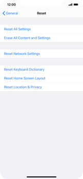 Apple iPhone XS Max - iOS 14 - Mobile phone - Resetting to factory settings - Step 5