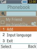 Samsung B2100 Xplorer - E-mail - Sending emails - Step 9