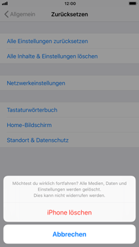 Apple iPhone 6 Plus - Fehlerbehebung - Handy zurücksetzen - 9 / 11