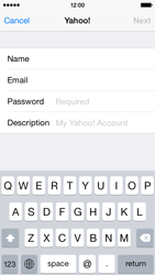 Apple iPhone 5s iOS 8 - E-mail - 032b. Email wizard - Yahoo - Step 8