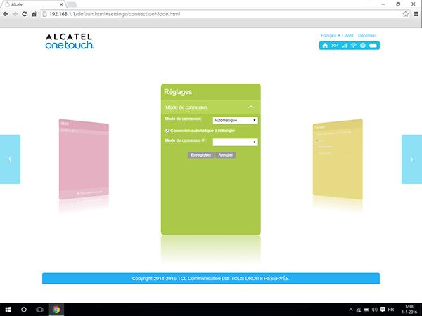Alcatel MiFi Y900 - Internet et roaming de données - désactivation du roaming de données - Étape 4