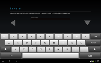 Sony Xperia Tablet Z LTE - Apps - Konto anlegen und einrichten - Schritt 5