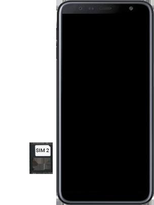Samsung Galaxy J6 Plus - Premiers pas - Insérer la carte SIM - Étape 8