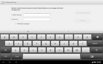 Sony Xperia Tablet Z LTE - E-Mail - Manuelle Konfiguration - Schritt 5