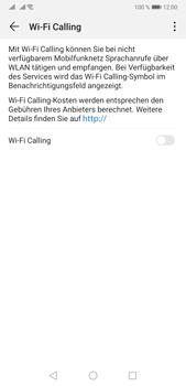 Huawei P20 Pro - Android Pie - WiFi - WiFi Calling aktivieren - Schritt 7