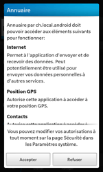 BlackBerry Z10 - Applications - Installation d