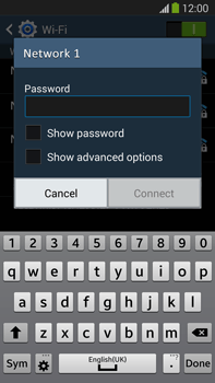 Samsung Galaxy Note III LTE - WiFi - WiFi configuration - Step 7