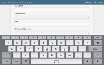 Samsung T805 Galaxy Tab S - E-mail - configurazione manuale - Fase 9