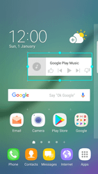 Samsung Galaxy S6 Edge - Android Nougat - Getting started - Installing widgets and applications on your start screen - Step 7