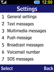 Samsung B550H Xcover 550 - SMS - Manual configuration - Step 5