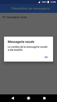 Sony Xperia XA2 Ultra - Messagerie vocale - configuration manuelle - Étape 12