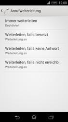 Sony Xperia E3 - Anrufe - Rufumleitungen setzen und löschen - 6 / 9