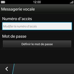 BlackBerry Q10 - Messagerie vocale - Configuration manuelle - Étape 7