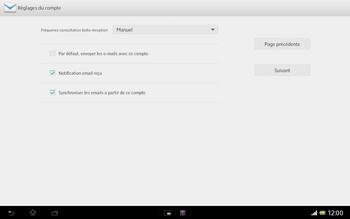 Sony Xperia Tablet Z LTE - E-mail - Configuration manuelle - Étape 15