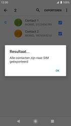 Sony xperia-xz-premium-g8141-android-pie - Contacten en data - Contacten kopiëren van toestel naar SIM - Stap 13