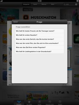Apple iPad Retina - Apps - Einrichten des App Stores - Schritt 14
