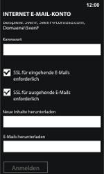 Nokia Lumia 800 / Lumia 900 - E-Mail - Manuelle Konfiguration - Schritt 15