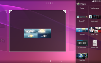 Sony Xperia Tablet Z2 LTE - Getting started - Installing widgets and applications on your start screen - Step 7