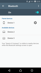 Sony Xperia X Compact - Bluetooth - Connecting devices - Step 8