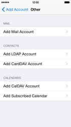Apple iPhone 5s - iOS 8 - E-mail - Manual configuration - Step 7
