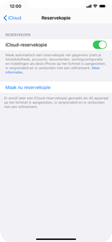 Apple iPhone 12 - toestel resetten - back-up maken met jouw account - stap 14