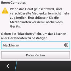 BlackBerry Q10 - Gerät - Zurücksetzen auf die Werkseinstellungen - Schritt 8