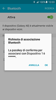 Samsung Galaxy A8 - Bluetooth - Collegamento dei dispositivi - Fase 7