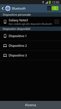 Samsung Galaxy Note III LTE - Bluetooth - Collegamento dei dispositivi - Fase 6