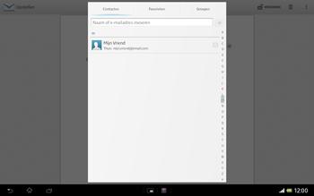 Sony SGP321 Xperia Tablet Z LTE - E-mail - e-mail versturen - Stap 5