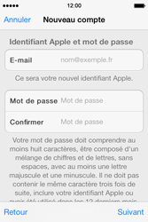 Apple iPhone 4 S iOS 7 - Applications - Créer un compte - Étape 12