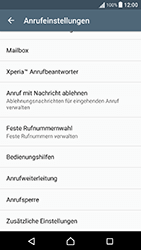 Sony Xperia X Performance - Anrufe - Rufumleitungen setzen und löschen - 5 / 9