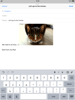 Apple iPad Pro (9.7) - iOS 11 - Email - Sending an email message - Step 12