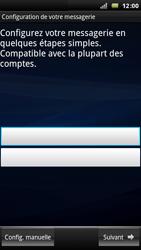 Sony Xperia Arc - E-mail - Configuration manuelle - Étape 5