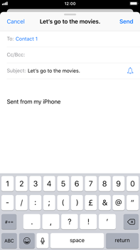 Apple iPhone 8 Plus - iOS 12 - E-mail - Sending emails - Step 7