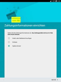 Samsung Galaxy Tab A 9.7 - Apps - Konto anlegen und einrichten - 16 / 18