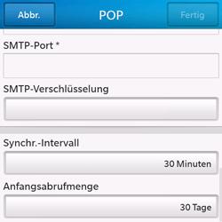 BlackBerry Q10 - E-Mail - Konto einrichten - Schritt 14