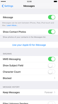 Apple iPhone 7 Plus - iOS features - Send iMessage - Step 5