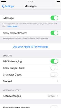 Apple Apple iPhone 6s Plus iOS 10 - iOS features - Send iMessage - Step 5