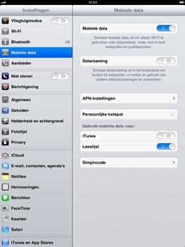 Apple iPad mini - Internet - aan- of uitzetten - Stap 4
