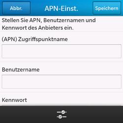 BlackBerry Q10 - Internet und Datenroaming - Manuelle Konfiguration - Schritt 8