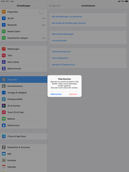 Apple iPad Pro 12.9 inch - iOS 12 - Fehlerbehebung - Handy zurücksetzen - Schritt 9