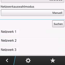 BlackBerry Q10 - Netzwerk - Manuelle Netzwerkwahl - Schritt 9