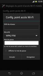 Sony Xpéria SP - Internet et connexion - Partager votre connexion en Wi-Fi - Étape 10