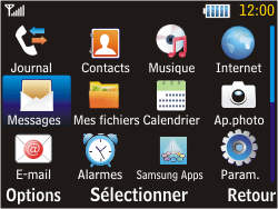 Samsung S3570 Chat 357 - Messagerie vocale - Configuration manuelle - Étape 3