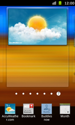 Samsung Galaxy S Advance - Getting started - Installing widgets and applications on your start screen - Step 6
