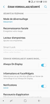 Samsung Galaxy A8 - Sécuriser votre mobile - Activer le code de verrouillage - Étape 5
