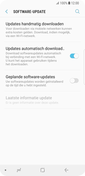 Samsung Galaxy S9 - software - update installeren zonder pc - stap 5